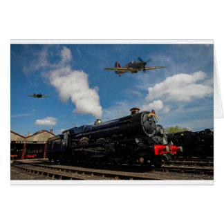 Hurricanes and steam train card