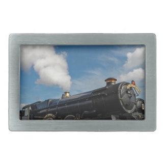 Hurricanes and steam train rectangular belt buckle