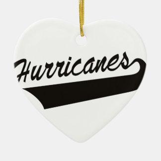 Hurricanes Ceramic Heart Decoration