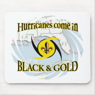 Hurricanes in Black & Gold Mouse Mat
