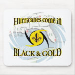 Hurricanes in Black & Gold Mousepads