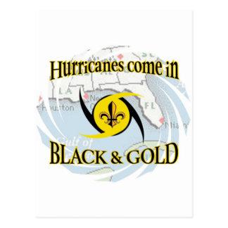 Hurricanes in Black & Gold Postcard