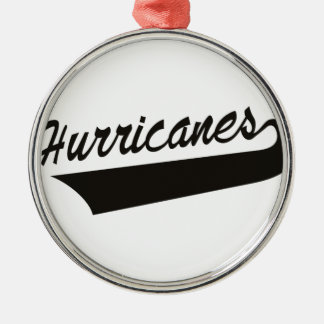 Hurricanes Silver-Colored Round Decoration