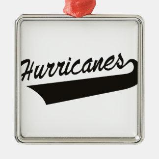 Hurricanes Silver-Colored Square Decoration