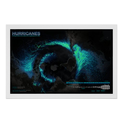 Hurricanes Since 1851 Print