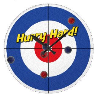 Hurry Hard Curler s Clock - Blue
