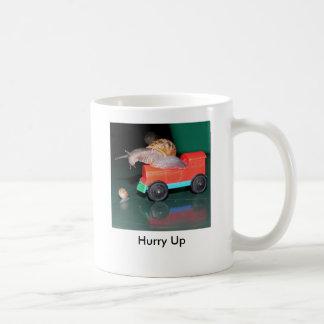 Hurry Up Basic White Mug