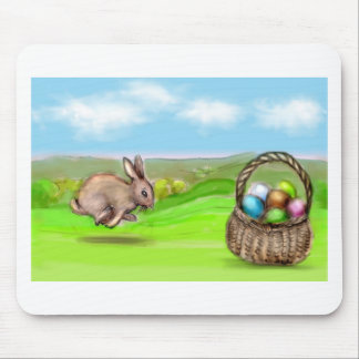 hurry up bunny mouse pad