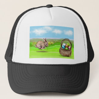 hurry up bunny trucker hat