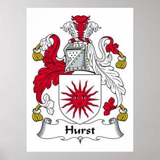 Hurst Family Crest Poster
