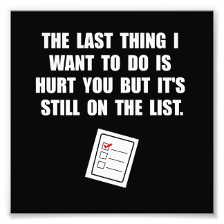 Hurt You List Photo