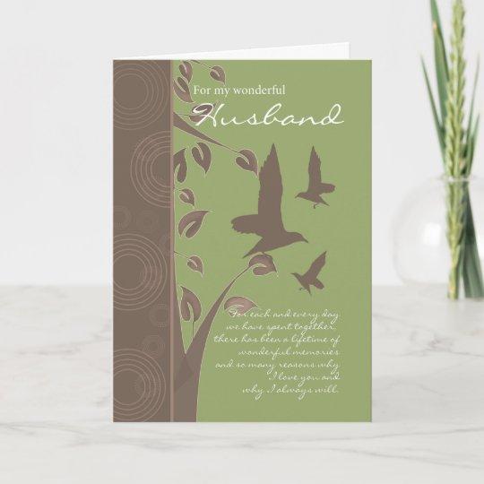 husband birthday card  birthday greeting card for