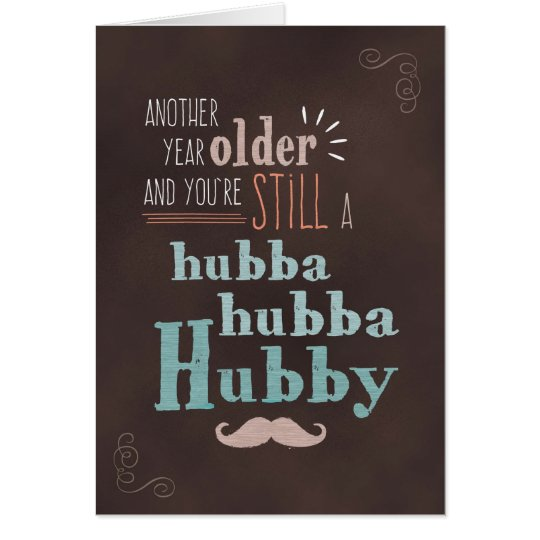 Husband Birthday, Hubba-Hubba Hubby Chalkboard Card