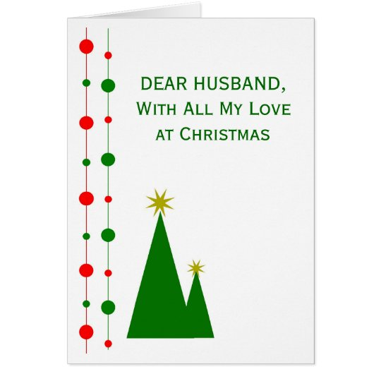 Husband Christmas Card Christmas Trees
