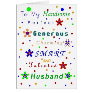 Husband Compliments, Happy Birthday! Card