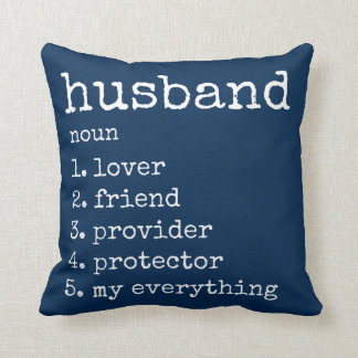 Husband Definition Anniversary Gift Pillow