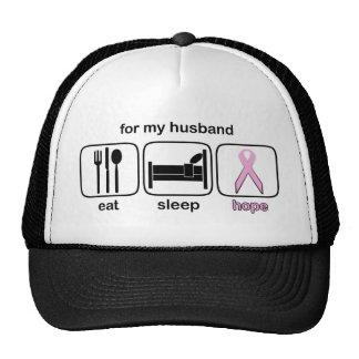 Husband Eat Sleep Hope - Breast Cancer Cap