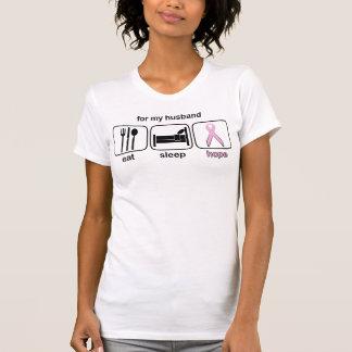 Husband Eat Sleep Hope - Breast Cancer Shirts