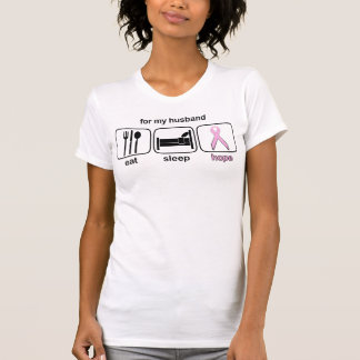 Husband Eat Sleep Hope - Breast Cancer T-Shirt
