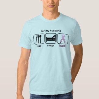 Husband Eat Sleep Hope - Breast Cancer T-shirts