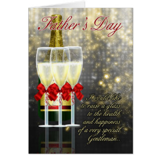 Husband - Father's Day Card - Champagne Toast