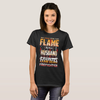 Husband Firefighter American Flag T-Shirt