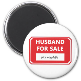 Husband for sale 6 cm round magnet
