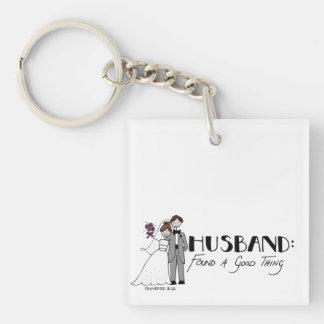 Husband: found a good thing key ring