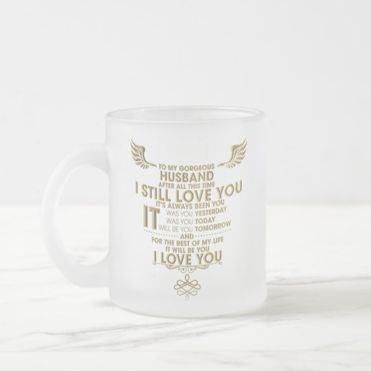 HUSBAND FROSTED GLASS MUG CUP FOREVER LOVE