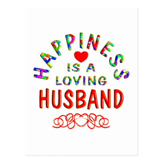 Husband Happiness Postcard