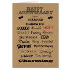 Husband Happy Anniversary Words of Praise Card