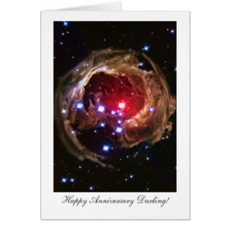 Husband Happy Anniversay, Red Supergiant Star Greeting Card