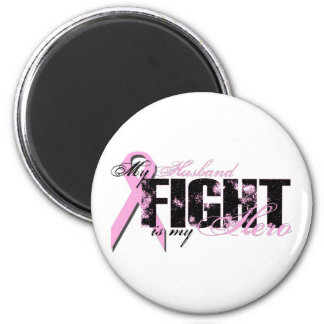 Husband Hero - Fight Breast Cancer 6 Cm Round Magnet