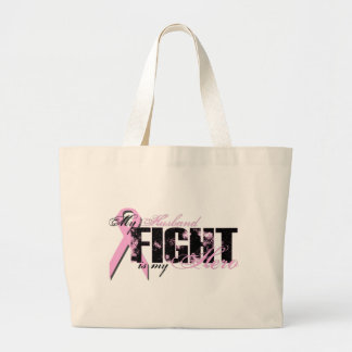 Husband Hero - Fight Breast Cancer Canvas Bag
