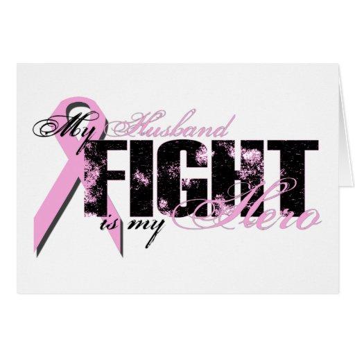 Husband Hero - Fight Breast Cancer Greeting Card