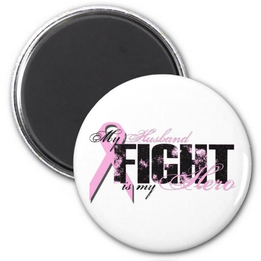 Husband Hero - Fight Breast Cancer Refrigerator Magnets