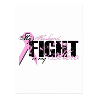 Husband Hero - Fight Breast Cancer Postcard