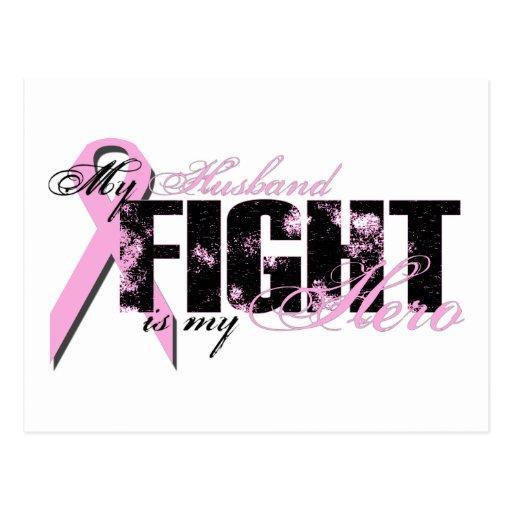 Husband Hero - Fight Breast Cancer Postcard