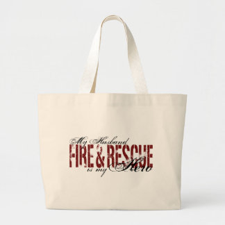 Husband Hero - Fire & Rescue Large Tote Bag