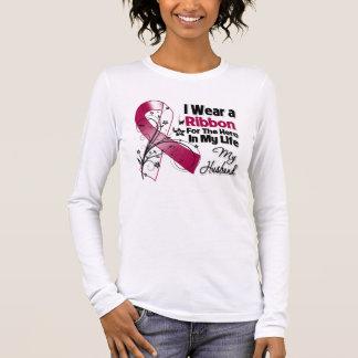 Husband Hero in My Life Head Neck Cancer Long Sleeve T-Shirt