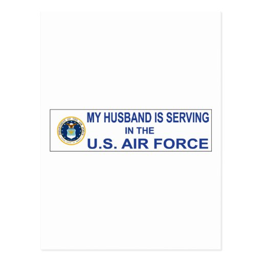 Husband Is Serving Post Card