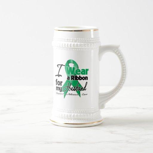 Husband - Liver Cancer Ribbon.png Coffee Mugs