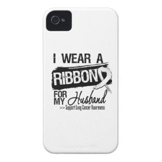 Husband Lung Cancer Ribbon iPhone 4 Case