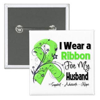 Husband - Lymphoma Ribbon 15 Cm Square Badge