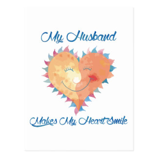 Husband Makes My Heart Smile Postcard