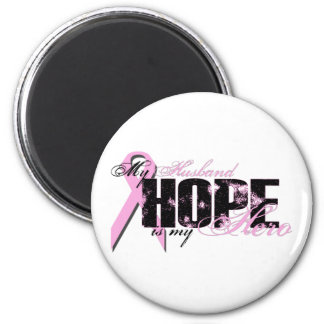 Husband My Hero - Breast Cancer Hope 6 Cm Round Magnet