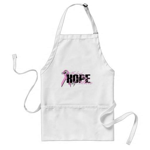 Husband My Hero - Breast Cancer Hope Apron
