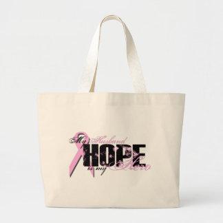 Husband My Hero - Breast Cancer Hope Tote Bag