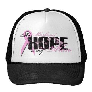 Husband My Hero - Breast Cancer Hope Cap
