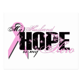 Husband My Hero - Breast Cancer Hope Post Card